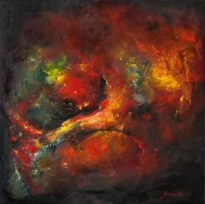 obrazy olejne na sprzedaż - Abstrakcja w czerwieni