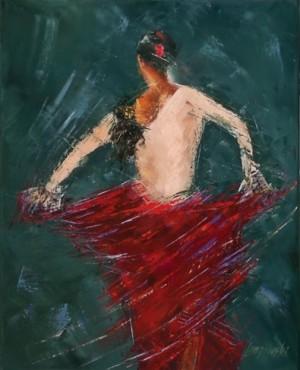 obrazy olejne na sprzedaż - Flamenco