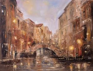 obrazy olejne na sprzedaż - Spacer po Wenecji