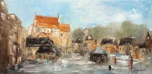 obrazy olejne na sprzedaż - Poranek w Kazimierzu