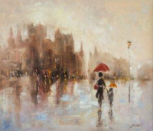 obrazy olejne na sprzedaż - Dwa parasole