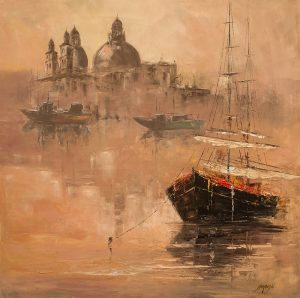 obrazy olejne na sprzedaż - Poranna mgła