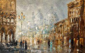 obrazy olejne na sprzedaż - Kiedyś w Wenecji