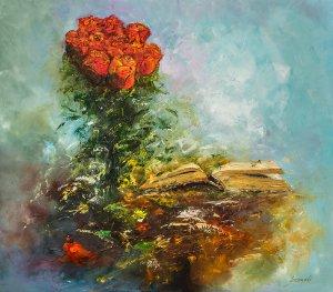 obrazy olejne na sprzedaż - Róże