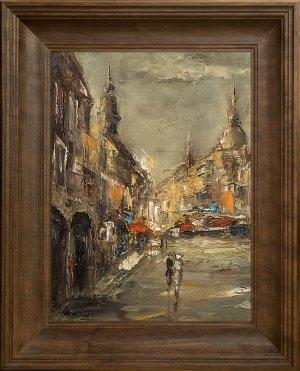 obrazy olejne na sprzedaż - Na starym mieście