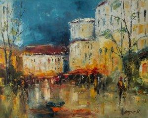 obrazy olejne na sprzedaż - Po deszczu