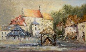 obrazy olejne na sprzedaż - Rynek w Kazimierzu