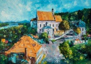obrazy olejne na sprzedaż - Widok na Kazimierz