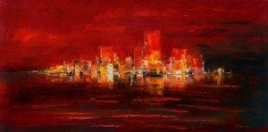 obrazy olejne na sprzedaż - Manhattan nocą