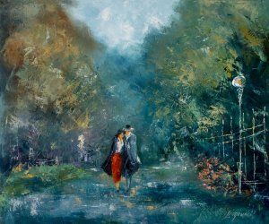 obrazy olejne na sprzedaż - Ogrody Paryża